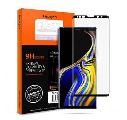 Spigen GLAS.tR Curved Full Cover HD Samsung Galaxy Note 9 Case Friendly Tempered Glass 599GL24507