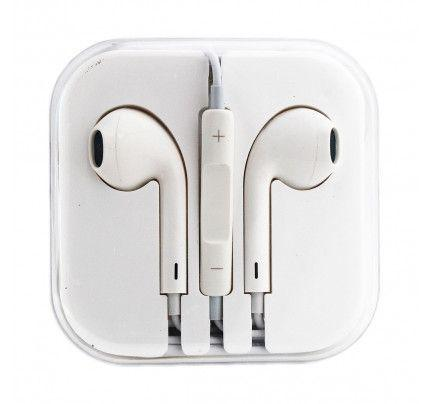 Handsfree Stereo συμβατά με iPhone 3G/3Gs/4G/5G/5S/6/6s BOX white