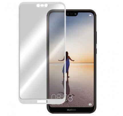 Φιλμ Προστασίας Οθόνης Tempered Glass (άθραυστο ) 9H για Huawei P20 Lite full face white