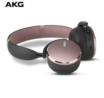 AKG Y500 On-Ear Foldable Wireless Bluetooth Headphones pink