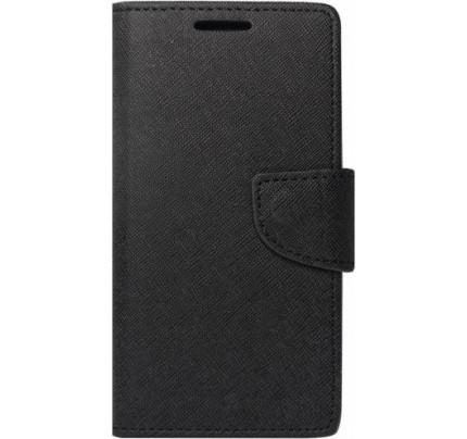 Θήκη OEM Fancy Diary για Huawei Y7 2019 (stand,θήκες για κάρτες,χρήματα) μαύρου χρώματος