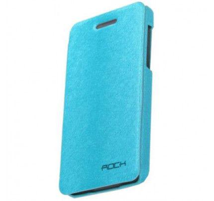 Θήκη Rock Side Flip Case Big City Series for BlackBerry Z10 γαλάζιου χρώματος