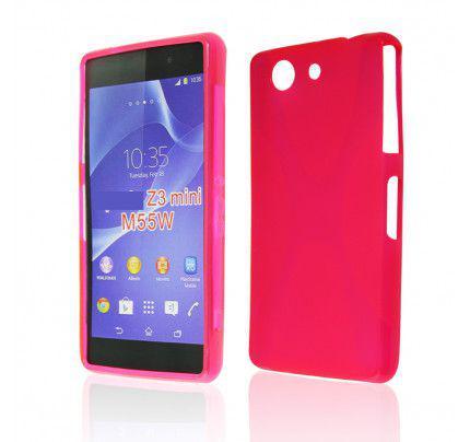 Θήκη TPU για Sony Xperia Z3 Compact red