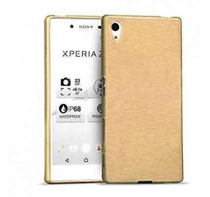 Θήκη Jelly Brush TPU για Sony Xperia Z5 Compact χρυσού χρώματος