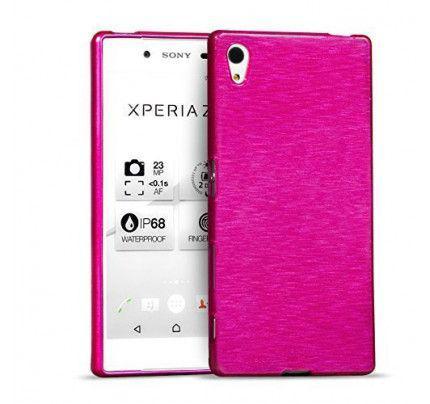 Θήκη Jelly Brush TPU για Sony Xperia Z5 Premium ροζ χρώματος