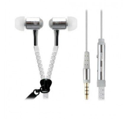 Headset Unidigital Zipper style with MIC White